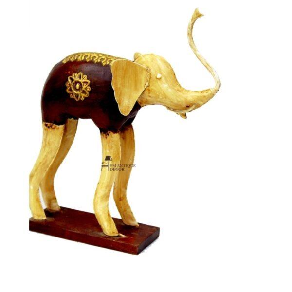 Wooden Elephant Showpiece