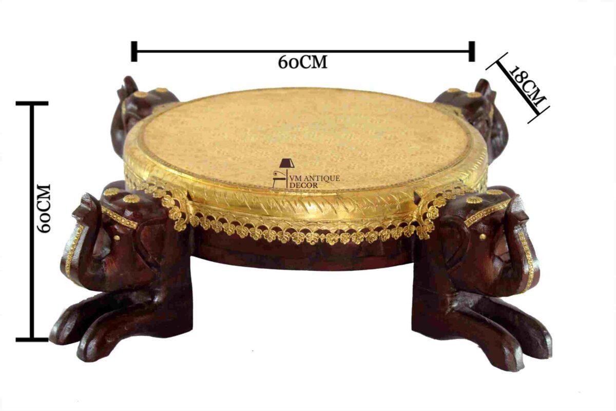 handbrass chowki table
