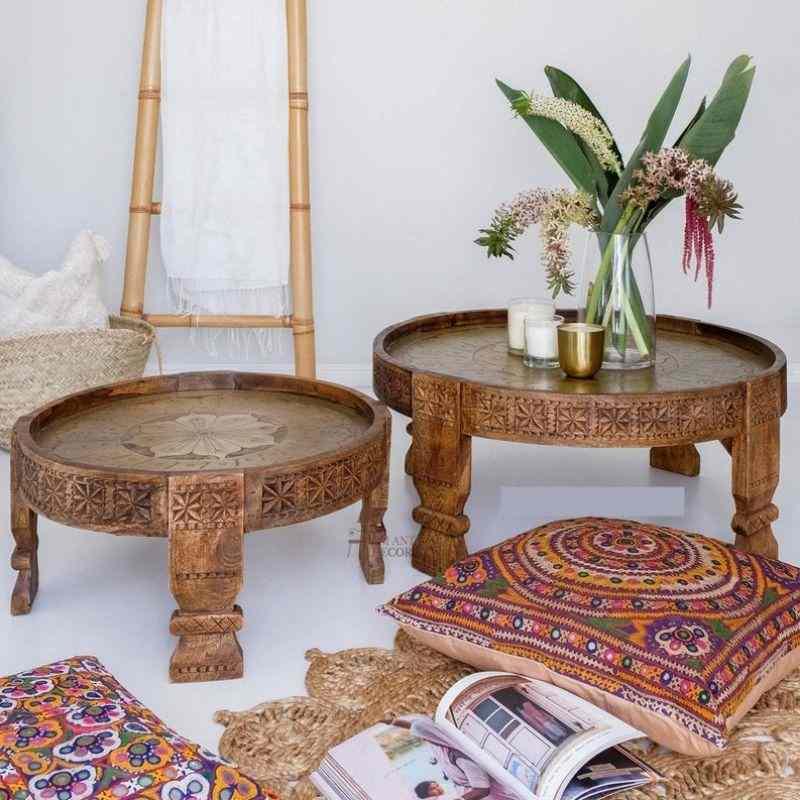brass chakki table