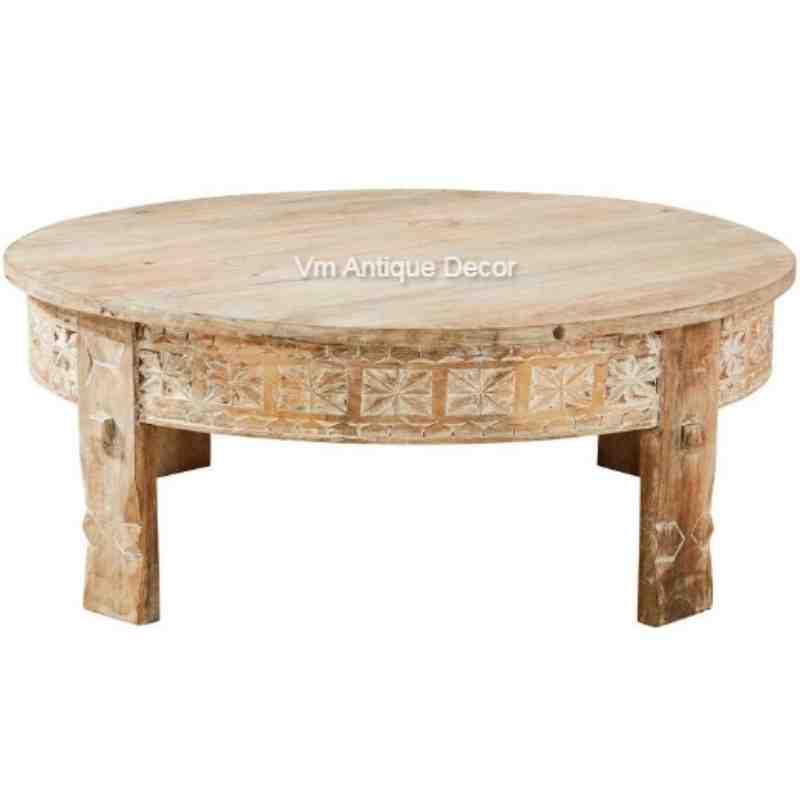 wooden chakki table