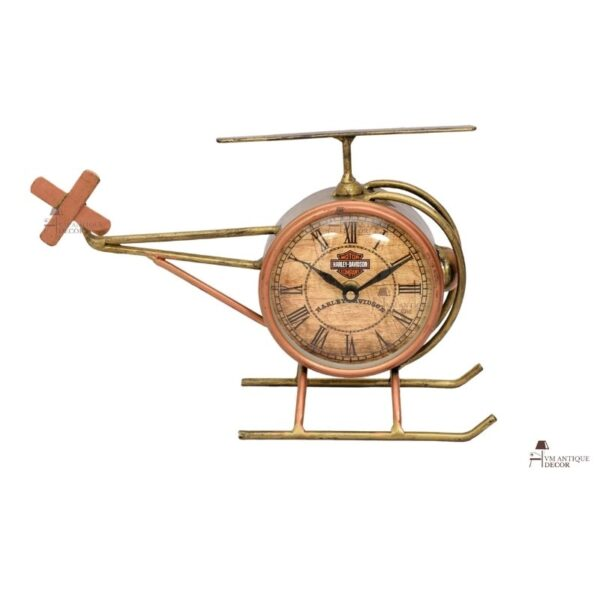 Indian Beautifull Helicopter Tabletop Clock
