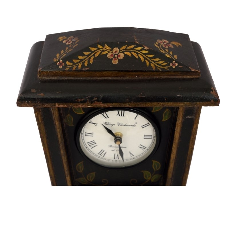 Antique Painted Tabletop Home Decor Clock
