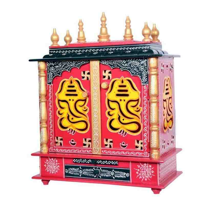 Wooden Painted Ganesh Temple