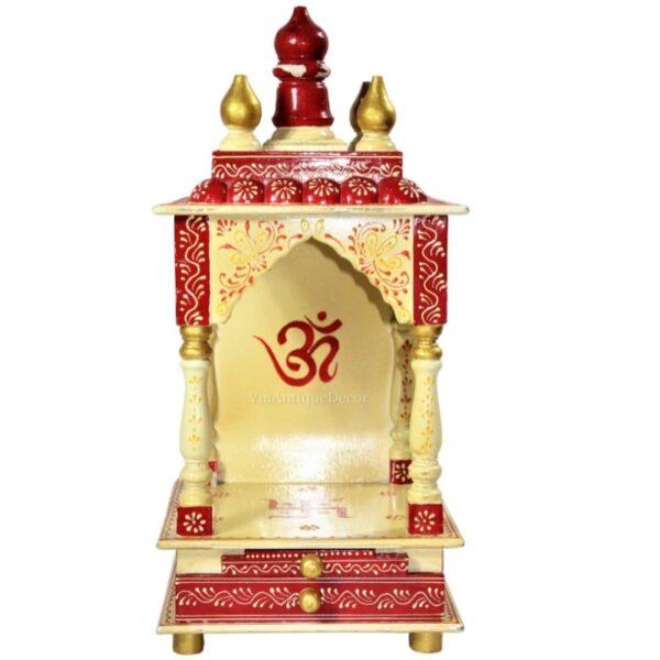 Wooden Beautifull Indian Hindu Religion Pooja Mandir