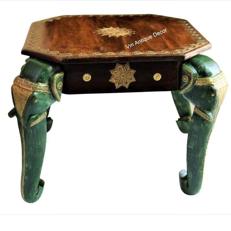 Wood Elephant Table