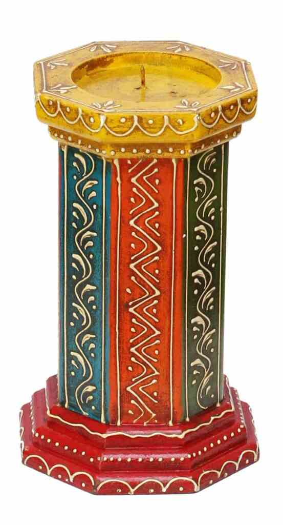 painted candle stand